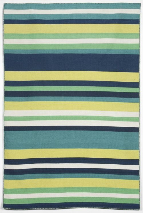 Simple, Bright Seaside Inspired Stripes Highlight The Fresh Pattern On This  Tribeca Green Area Rug