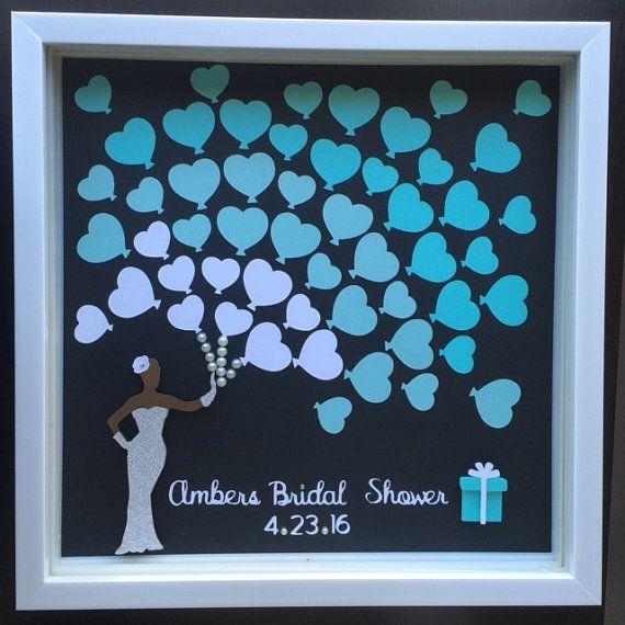 Bridal shower  Wedding Guest book Alternative  blue by ItsyBitsyCA