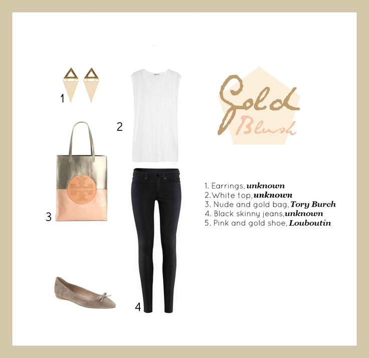 #set #oufit #stylish #chic #bluch #gold  /by Taki Trik