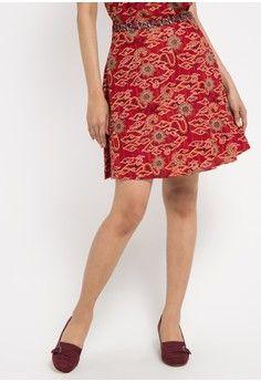 Wanita > Pakaian > Bawahan > Rok > Regular Print Skirt > Batik Solo