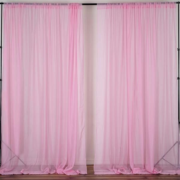 Two curtains 5x10 feet High Polyester Backdrop Drapes Curtains Panels Wedding