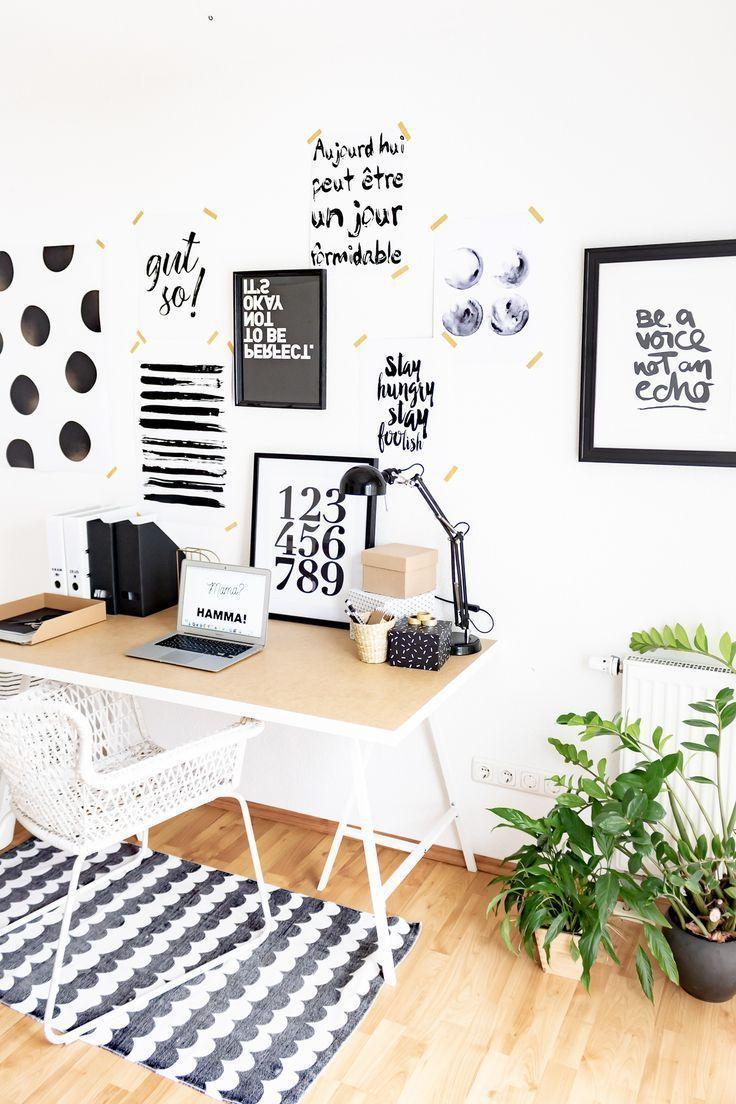 Arbeiten Im Homeoffice Kleines Arbeitszimmer Skandinavisch Einrichten Ideen Fur Schreib Kleines Arbeitszimmer Gastezimmer Einrichten Kleine Zimmer Einrichten