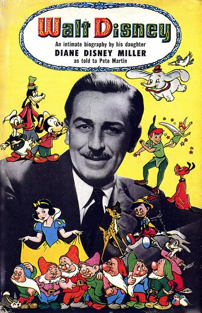 Walt Disney biography (UK edition)    Walt Disney - An Intimate Biography published by Odhams Press (London) in 1958; autographed on the title page to Brian Sibley by Diane (Disney Miller) at a screening of Walt: The Man Behind the Myth in Los Angeles, 2001