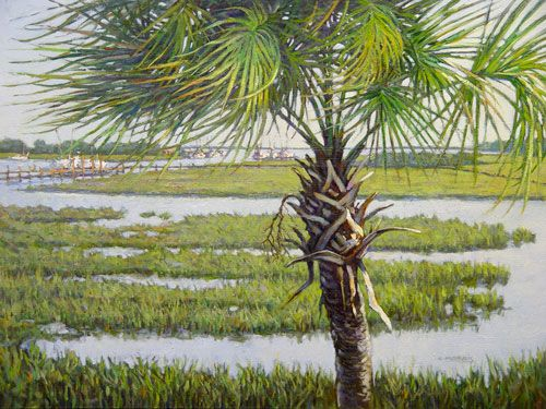 As the eternal symbol of our great state, this palmetto tree stands watch along the South Carolina coast as many others have for hundreds of years. Their strength comes from their flexibility and capacity to bend with the wind.