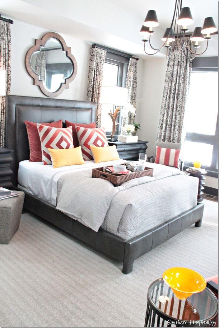 An HGTV 2014 Dream Home tour by @sharon murphy Hospitality Rhoda | Dark head board like ours