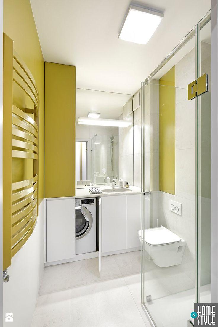 REALIZACJA apartamentu hotelowego pod wynajem - Mała łazienka bez okna, styl nowoczesny - zdjęcie od HOME & STYLE