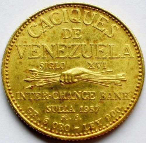 Caciques de Venezuela, moneda de oro. ~lbk~