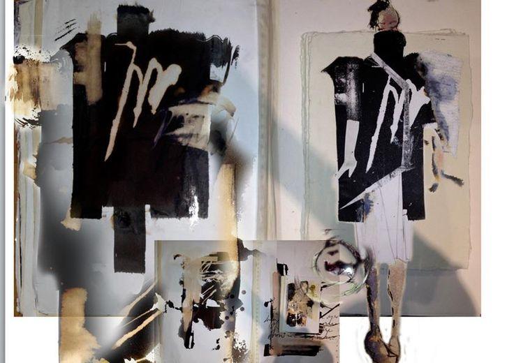 Fashion Sketchbook - fashion design drawings & development // fashion portfolio via CSM