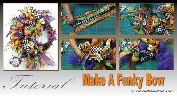 This video is exactly what I've been needed. She shows you how to make those whimsical bows for wreaths, pumpkins, garlands etc. I have tons of ribbon I need to use up.