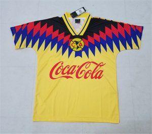 64b12f860 Club America 1994-95 Season Retro Black Yellow Liga MX Shirt Jersey  K581