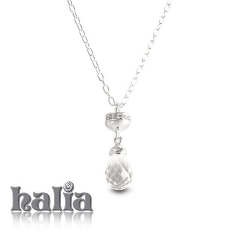 Lariat with Pav̩ Cubic Zirconia & Rock Crystal Briolette (28 or 36 inches): A delicate lariat piece to showcase your favorite Halia charms, accented with high intensity cubic zirconia and a dangling rock crystal briolette. The Halia lariat necklace also accepts charms from most competing charm systems. Sterling silver, hypo-allergenic and nickel free.     $64.00