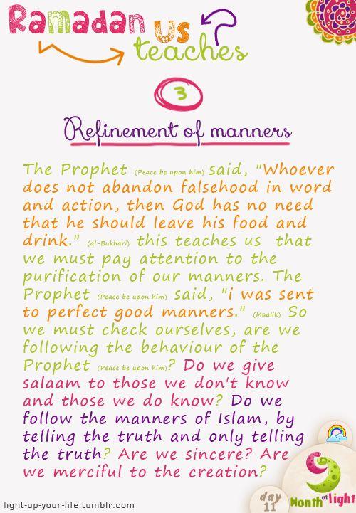 Month Of Light Ramadan teaches us! Lesson 3