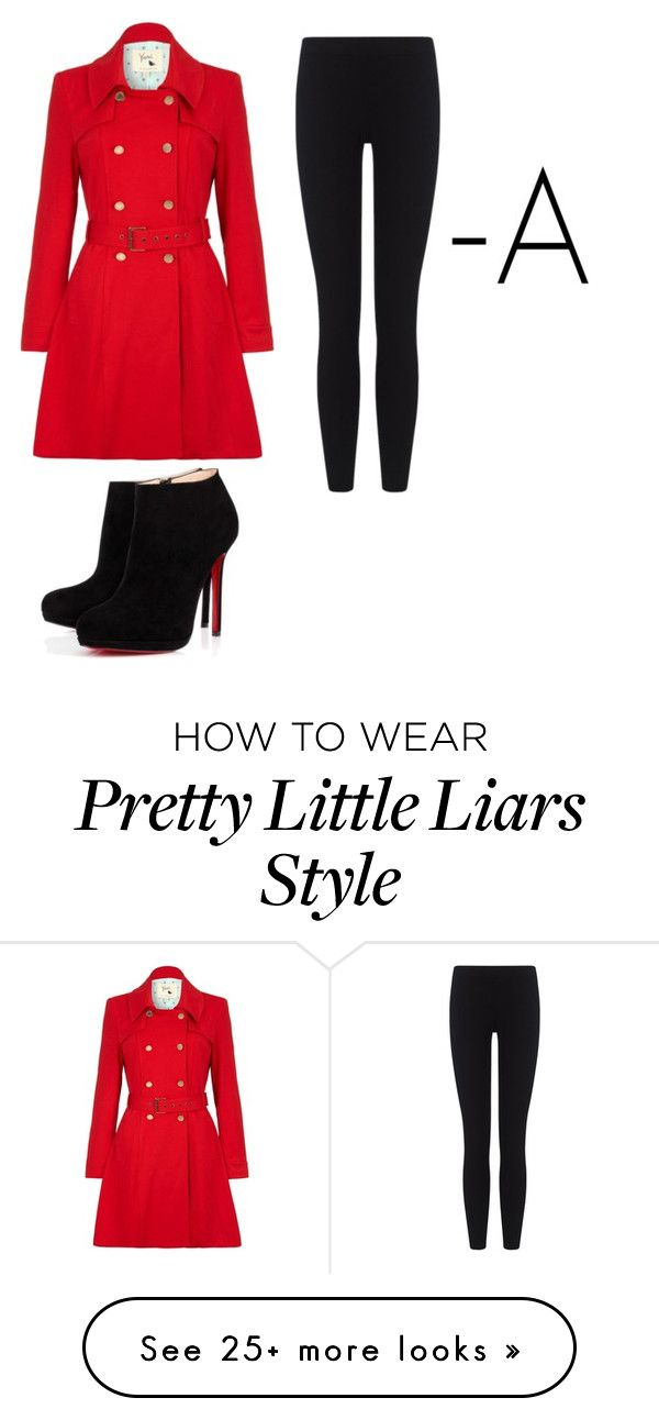 """""""Pretty little liars A costume"""" by gummybears4life on Polyvore featuring Yumi, James Perse and Christian Louboutin"""