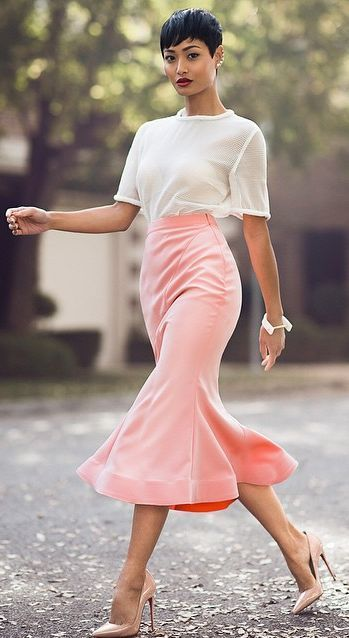 White And Pink Chic Style by Micah Gianneli