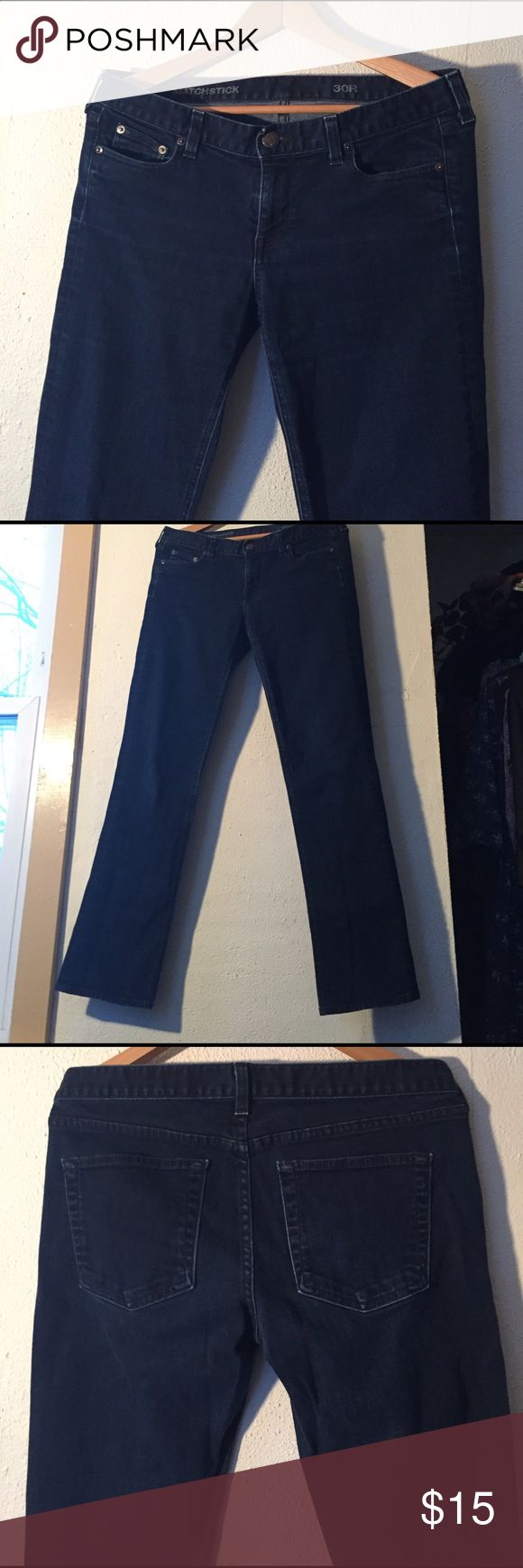 J Crew dark 5-pocket indigo matchstick jeans, 30r These J Crew jeans look like they were never worn!   Beautiful, soft denim, super flattering, and in excellent shape! J. Crew Jeans Straight Leg