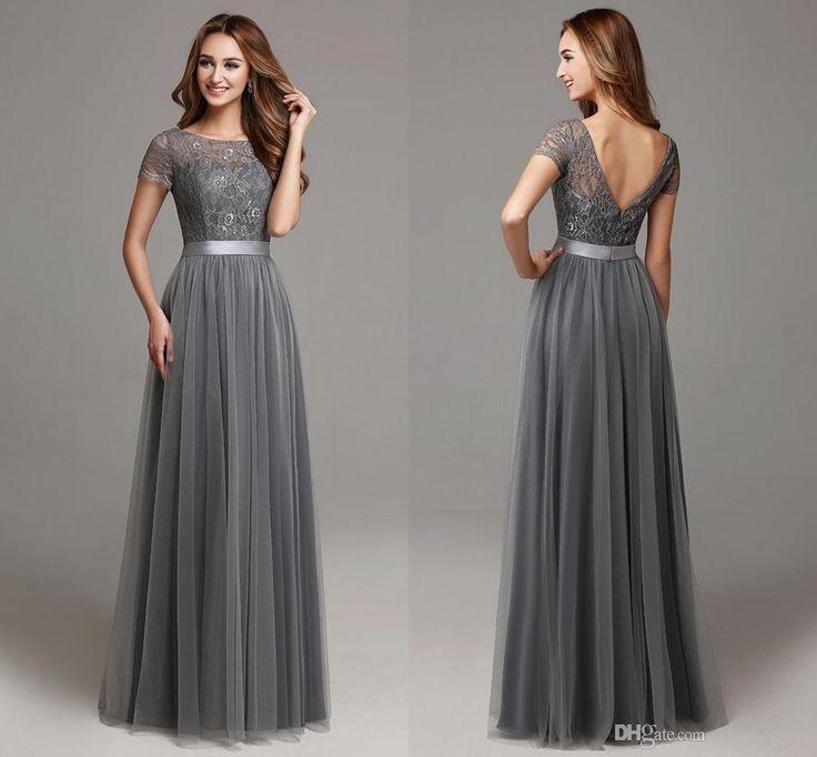 Gray Dresses for Wedding - Women's Dresses for Wedding Guest Check more at http://svesty.com/gray-dresses-for-wedding/