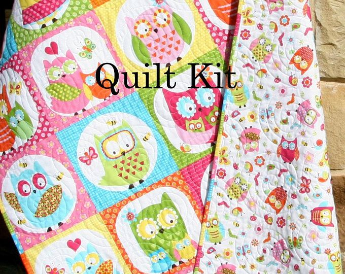 Quilt Kit, FLANNEL, Baby Blanket Panel, Quick Easy, Woodland Forest