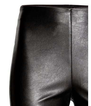 Imitation Leather Leggings | Black | Women | H&M US