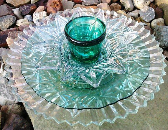 Recycled glass flower sun catcher garden art garden decor for Recycled glass garden ornaments