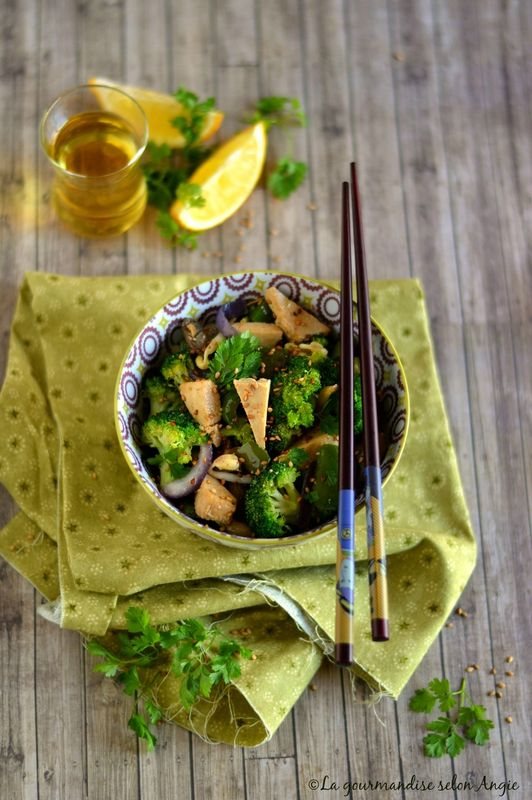 Wok de tofu à la japonaise