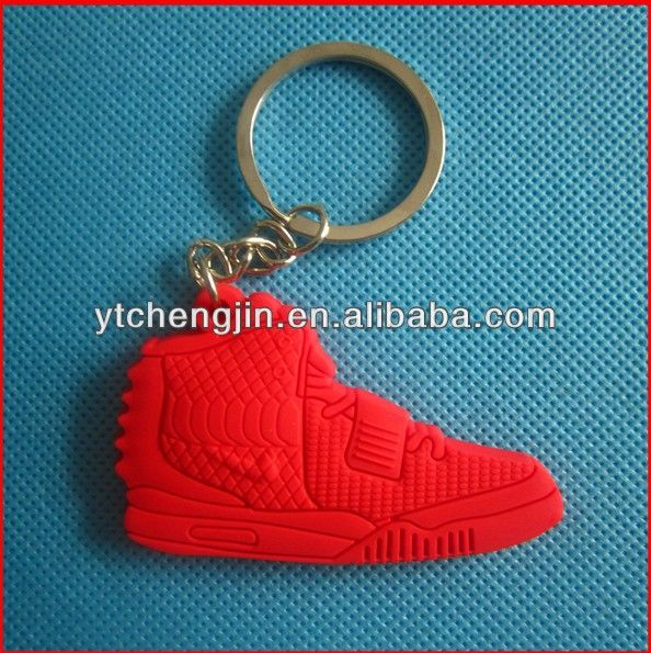 Glowing Jordan all red air yeezy 2 keychain