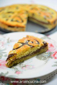 Blog di cucina di Aria: Torta decorata con crema al cioccolato e farina d'...