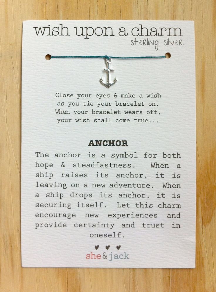 LOVE THIS!!!  Wish Bracelet - Sterling Silver Anchor Charm - Waxed Irish Linen - Choose Your Oen color  ||  She & Jack via Etsy