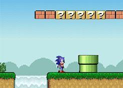 Juegos Sonic - Juego: Sonic en Mario World - Jugar Juegos Gratis Online Flash en Español sin Descargar