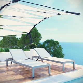 Shore Aluminum Outdoor Chaise Set of 2