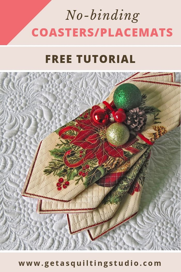 Sewing For Christmas 15 Tutorials And Patterns Quilting Studio Quilting Tutorials Place Mats Quilted