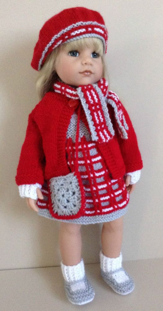 AMERICAN GIRL DOLL GOTZ HANNAH DESIGNAFRIEND 8PC HAND KNITTED OUTFIT