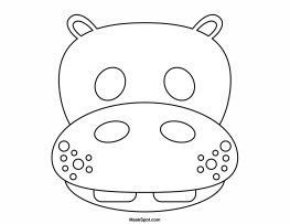Printable Hippo Mask To Color