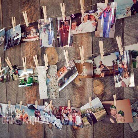 display of photos!