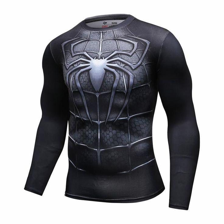 Nuevo 2016 Moda Hombre Camiseta Marvel Superhero Spiderman T Shirt Hombres Gimnasio tee Camisa De Compresión Medias en Camisetas de Ropa y Accesorios en AliExpress.com | Alibaba Group