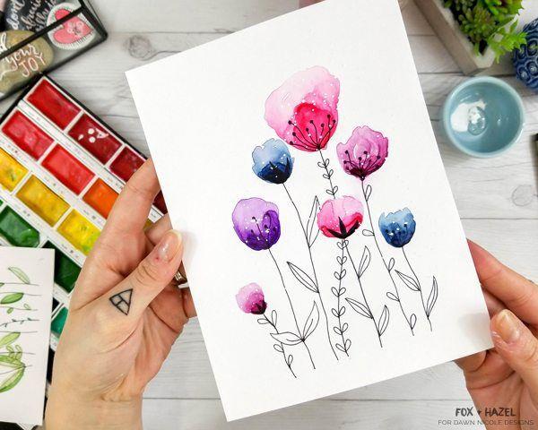 Easy Watercolor Flowers Step By Step Tutorial Watercolor