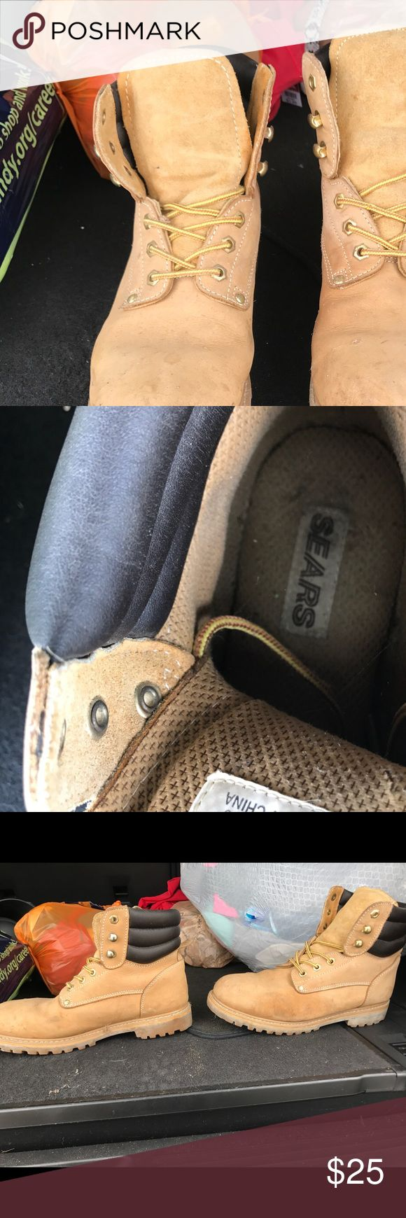 Sears men oil proof work boots size 11 slightly worn men's work boots oil proof work boots size 11 from sears sears Shoes Boots