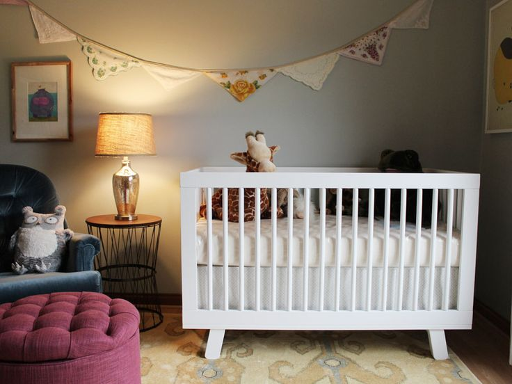 Eclectic nursery with source list + lots of DIYs
