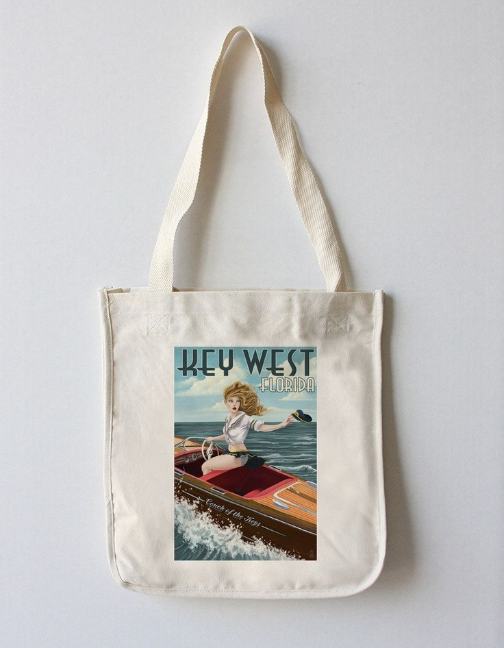 Key West, Florida - Boating Pinup Girlÿ- Lantern Press Artwork
