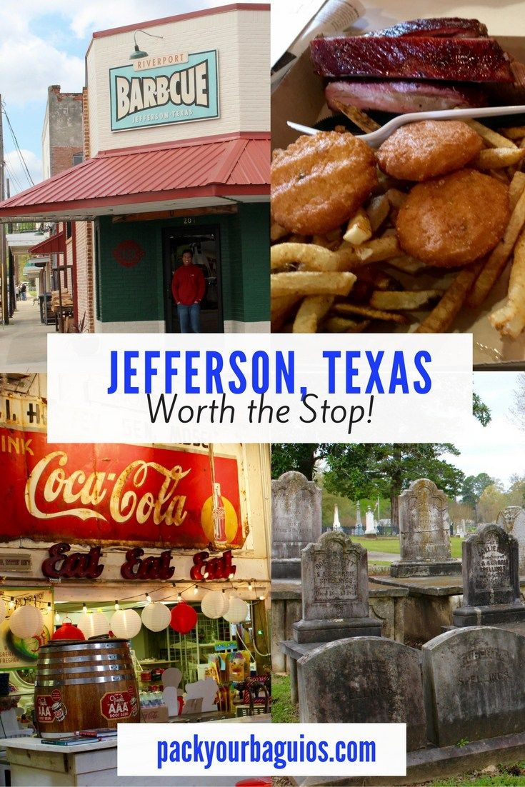 Jefferson, Texas is a small little east Texas town. It is a great lunch stopping point in between Texarkana and Tyler.