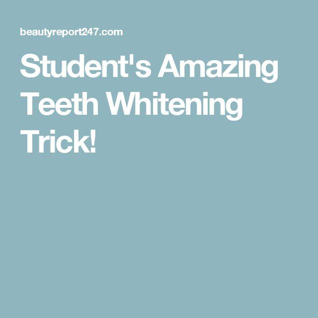 Student's Amazing Teeth Whitening Trick! getfreecharcoalto…