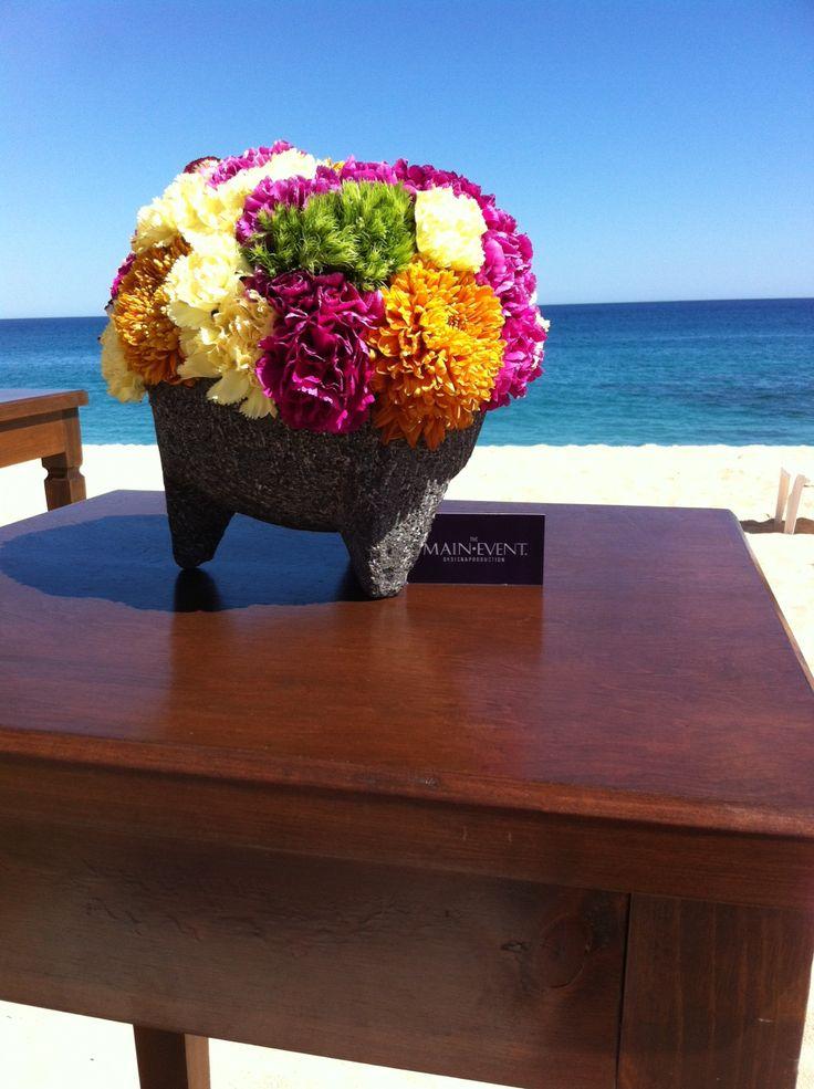Molcajete centerpiece!!! Wedding planner Karla Casillas