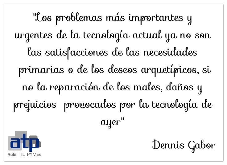 Cita de Dennis Gabor