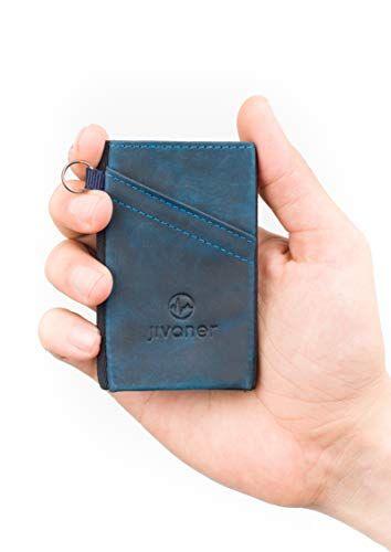 1b93fa8598 Offerta di oggi - JIVANER Ultra Slim: Portafoglio uomo piccolo e suttile in  pelle - Porta carte di credito minimalista con protezione RFID -…