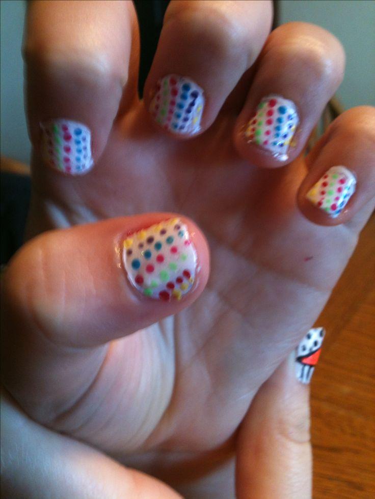 delani 39 s nails perfect design for little girl nails nails pinterest