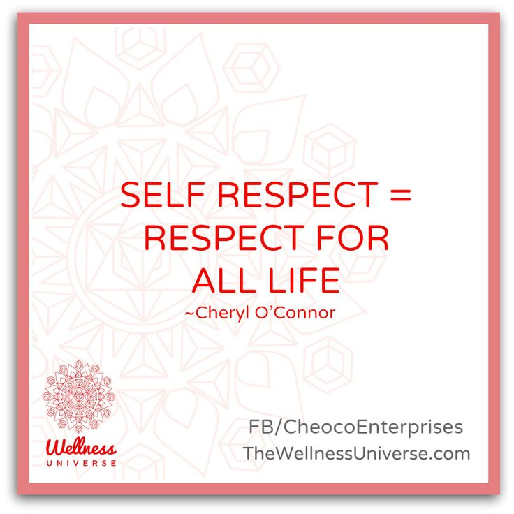 The #Wellness Universe #Quote of the Day by Cheryl O'Connor #WUVIP #respect #selfrespect  www.TheWellnessUniverse.com