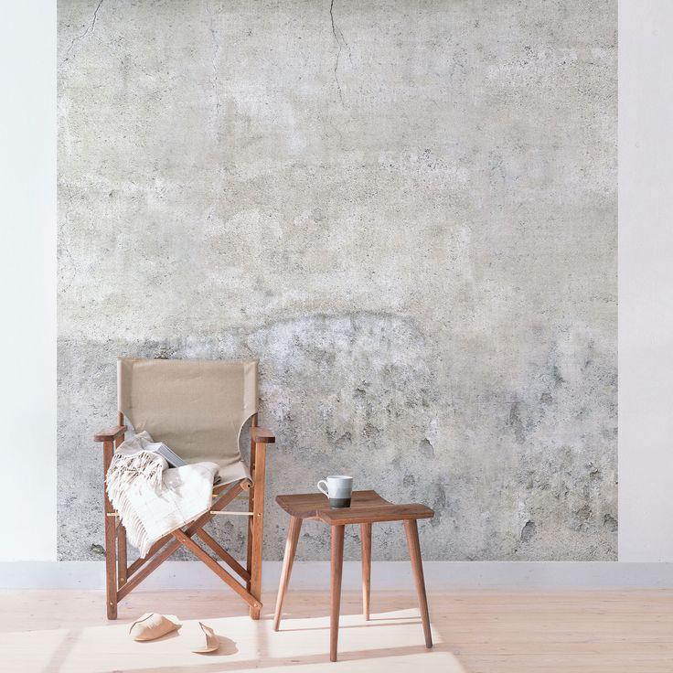 Die 25 besten ideen zu betonoptik wand auf pinterest betonw nde fliesen in betonoptik und optik - Beton muu room in ...