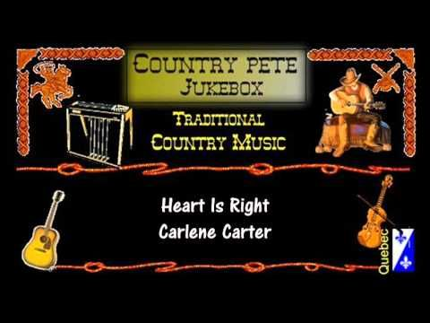 (54) Heart Is Right - Carlene Carter - YouTube