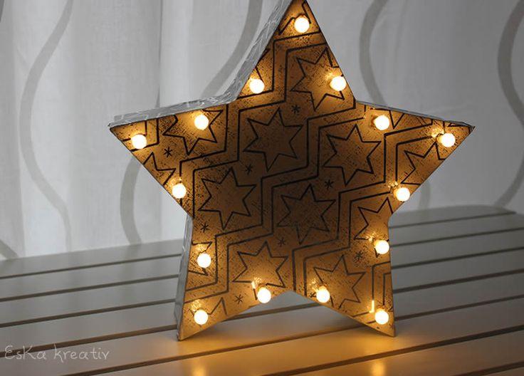 EsKa Kreativ: Leuchtender Adventsstern | DIY Christmas Decoration