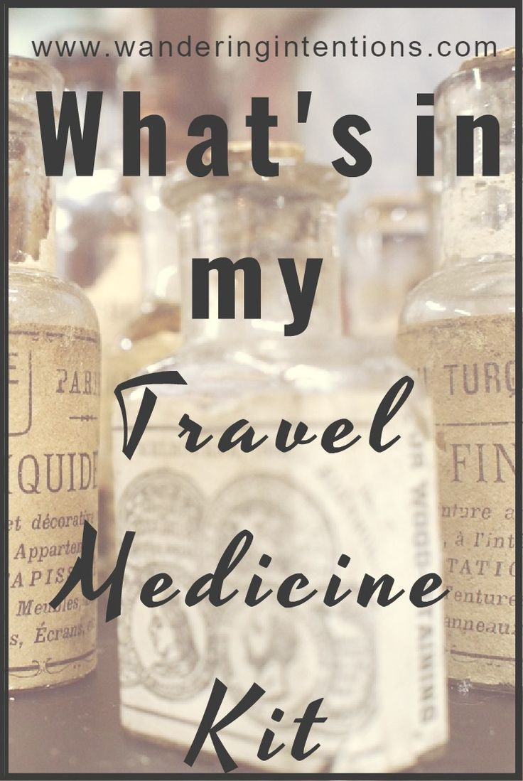 What medicines I pack for travel - Wandering Intentions