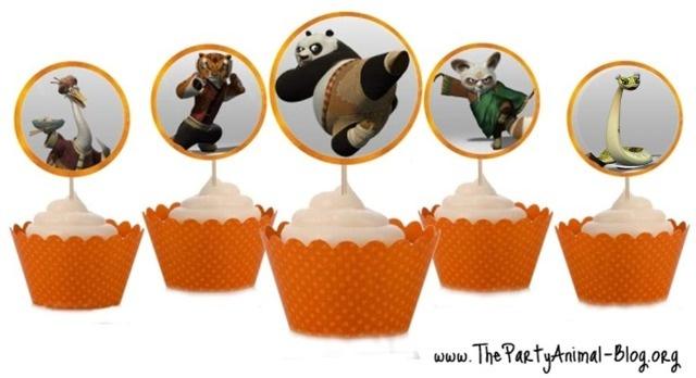 Kung Fu Panda Cupcake Toppers free printables